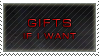 gifts if I want stamp by wol4ica-stock