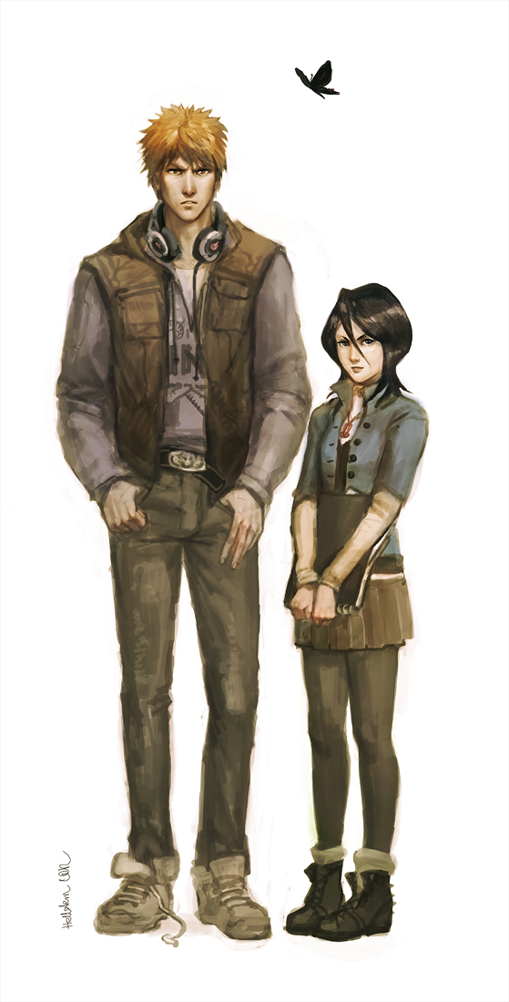 Ichigo and Rukia by Hellstern