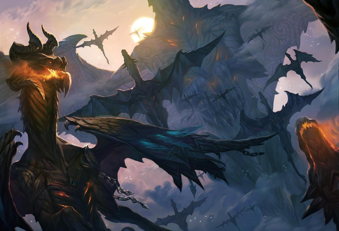 Sarn Dragons by Hellstern