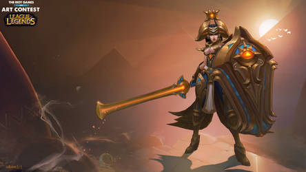 Riot art contest Leona by Hellstern