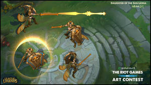 Riot art contest Leona Map shot by Hellstern