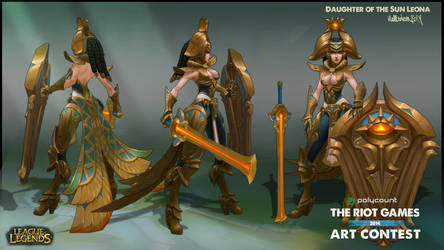 Riot art contest Leona Concept additional by Hellstern