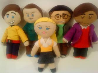 The Big Bang Theory Plushies by cubosabio