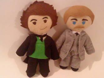 Holmes and Watson Plushies