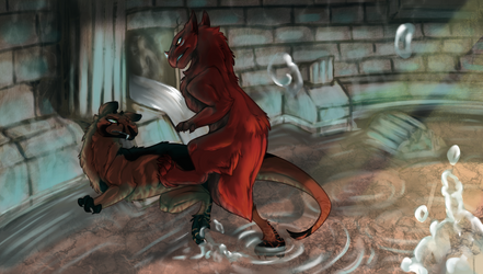 CoL Collab: Sibling Rivalry by Zada2011