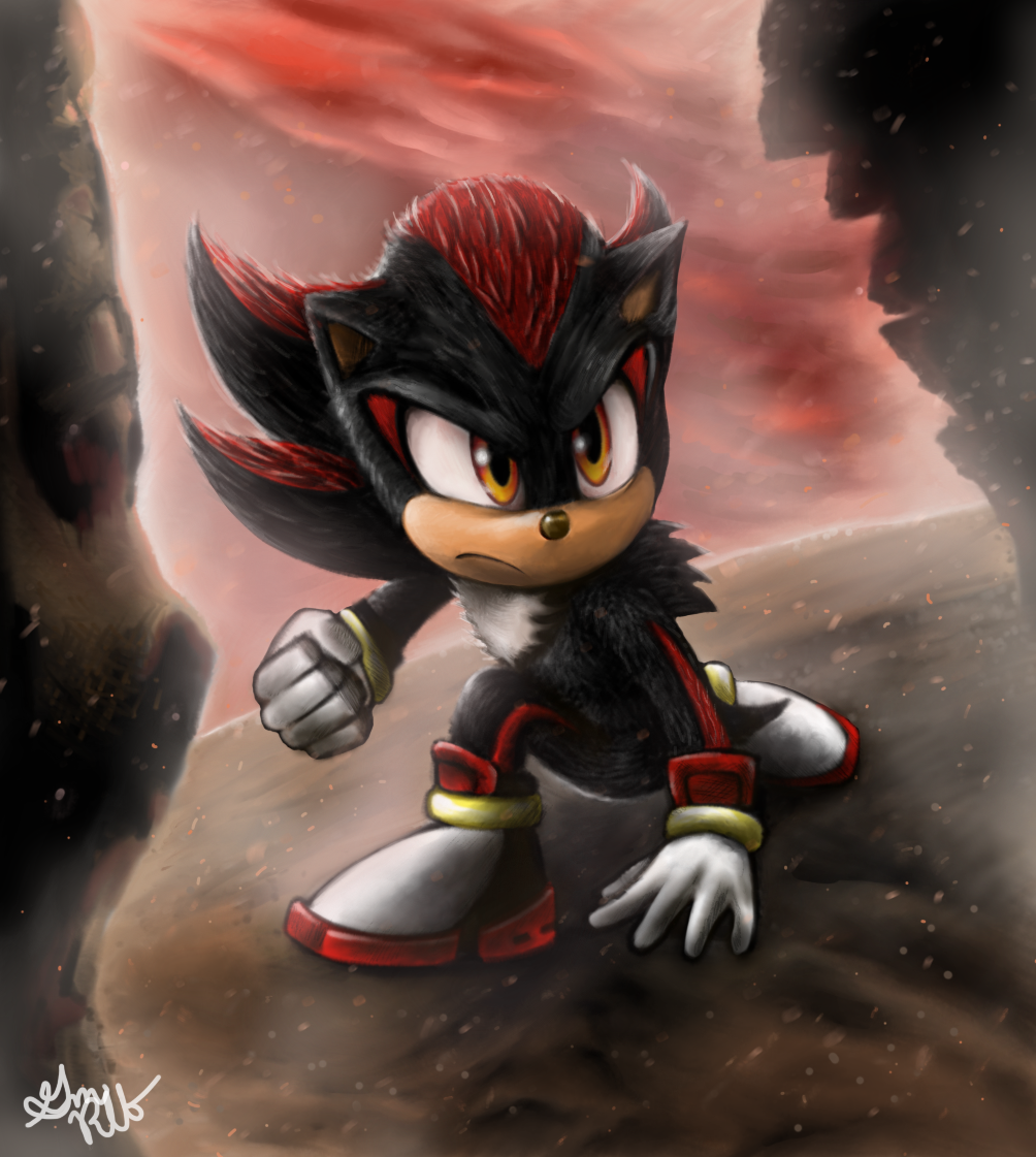 Shadow The Hedgehog In Sonic Movie 2020 Art Style By Gmretrolatebloomer On Deviantart
