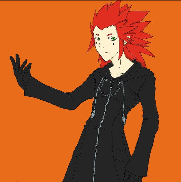 Axel Lineart by PercabethForever33