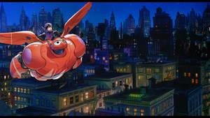 Sora meets Big Hero 6 - Hiro and Baymax's flight
