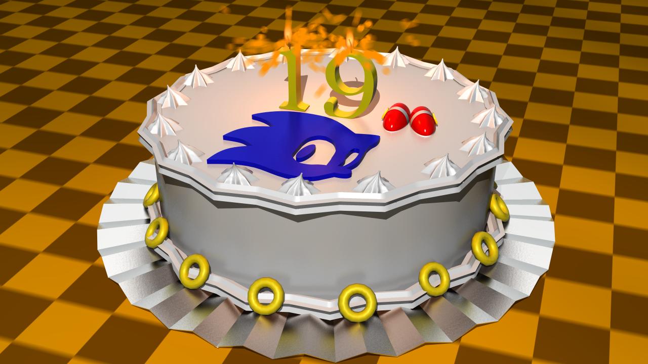 Sonic 19th birthday 3D cake by AlphaRox on DeviantArt