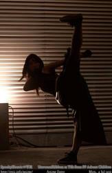Tifa- High Kick by UnwoundRibbon