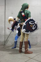 Link and Sheik- Boo by UnwoundRibbon