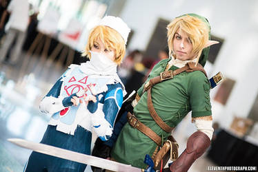 Sheik and Link by UnwoundRibbon