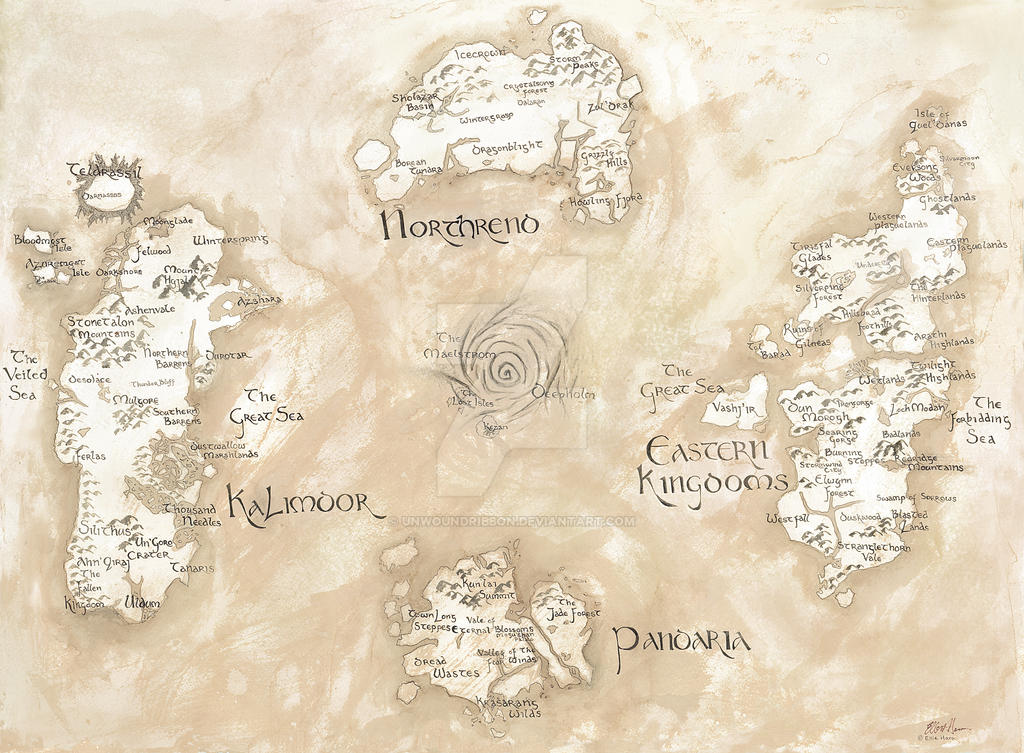 Map of Azeroth- World of Warcraft by UnwoundRibbon on DeviantArt