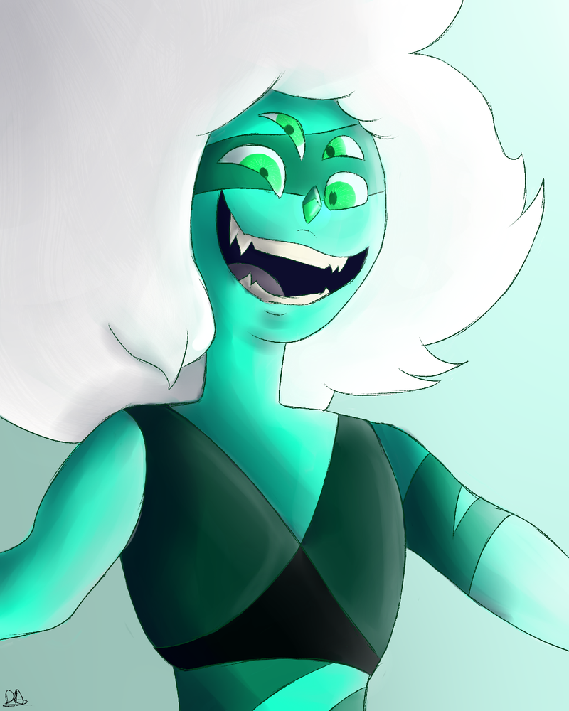 Digital watercolour of Malachite from Steven Universe. Super old sketch I decided to finish up. I actually kinda like it for once?