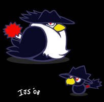 Fat n feathery by IvynaJSpyder