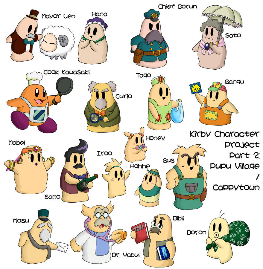 how to draw kirby buckets characters