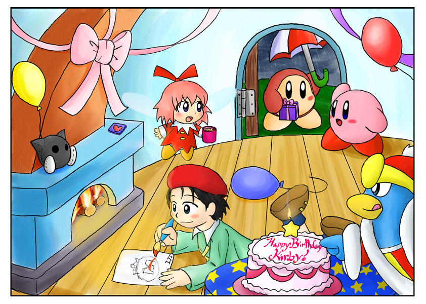 April kirbys birthday party by ivynajspyder on deviantart april kirbys birthday party by ivynajspyder voltagebd Image collections