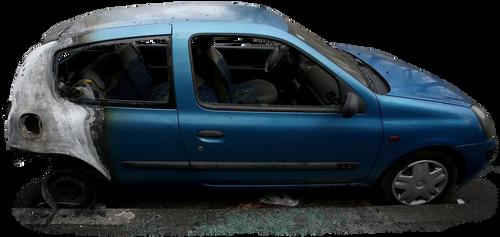 Burned A Car 3 (PNG)