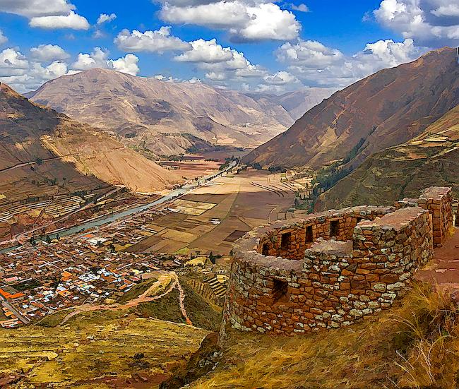 Inca Ruins of Pisac by RicardoBevilaqua