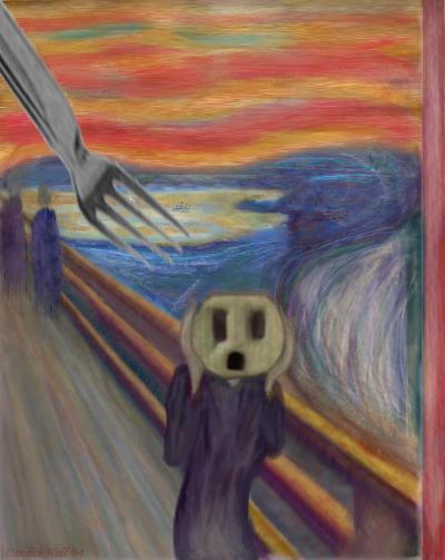 Edvard Munch    The Scream    Outlet Plug ParodyThe Scream Edvard Munch Parody