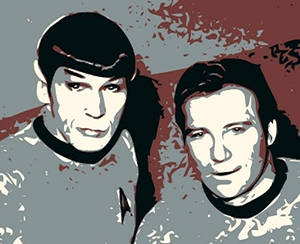 Spock and Kirk. Remember.