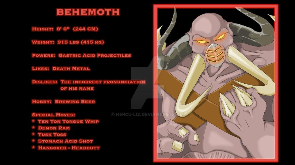 Statistics Screen:  Behemoth by Hercu-Liz