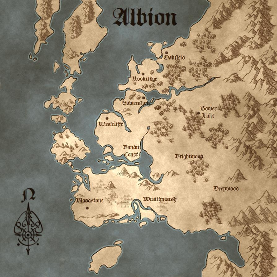 Fable II Illuminated Map by IsBreaLiomCaife on DeviantArt