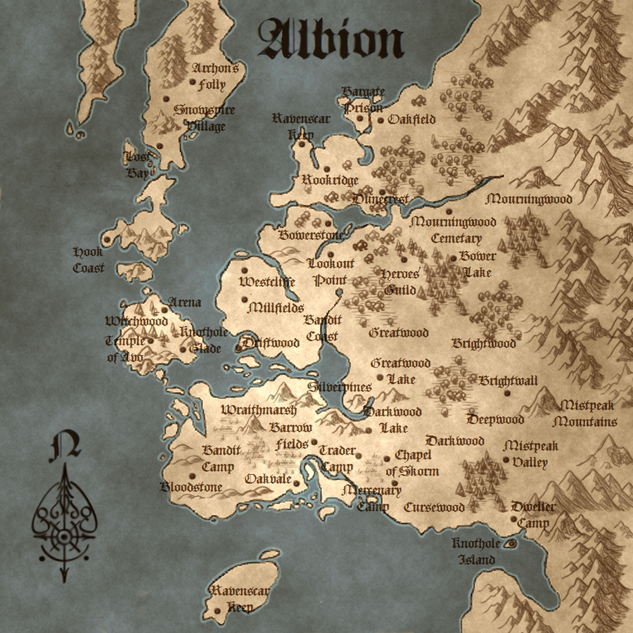 Fable 3 Map Do we have a full map of Albion? : Fable Fable 3 Map