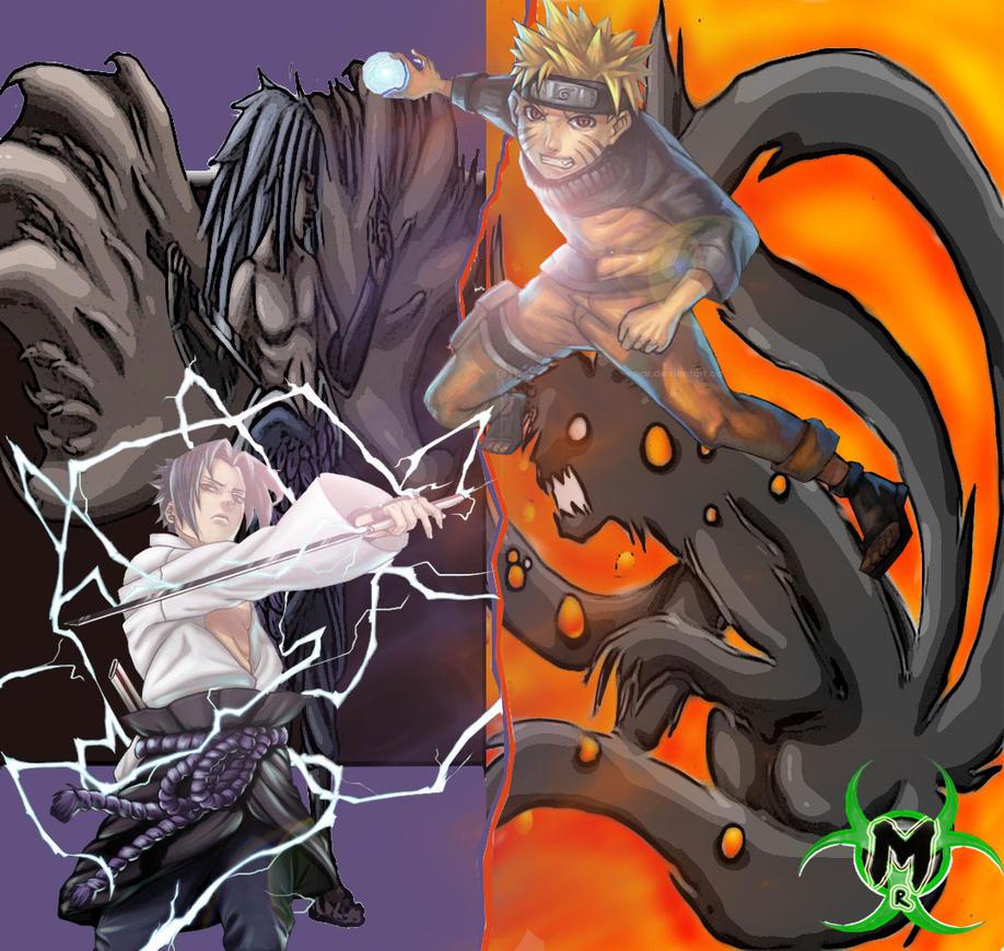 Naruto And Sasuke Wallpaper By Anbukakashi07 On DeviantArt