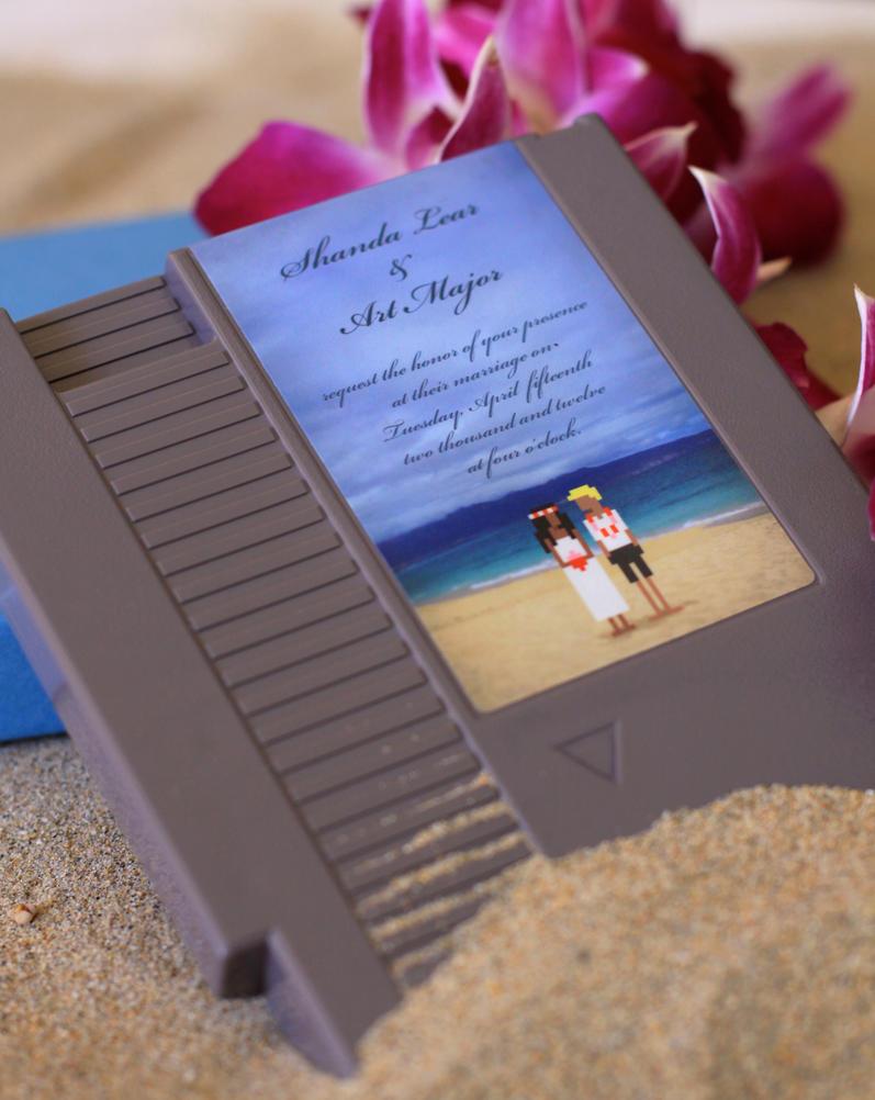 8-Bit Beach Wedding by pacalin