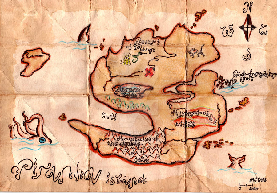 Pirate's Treasure's map 2
