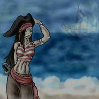 Teh Zombie Pirate by grimzee