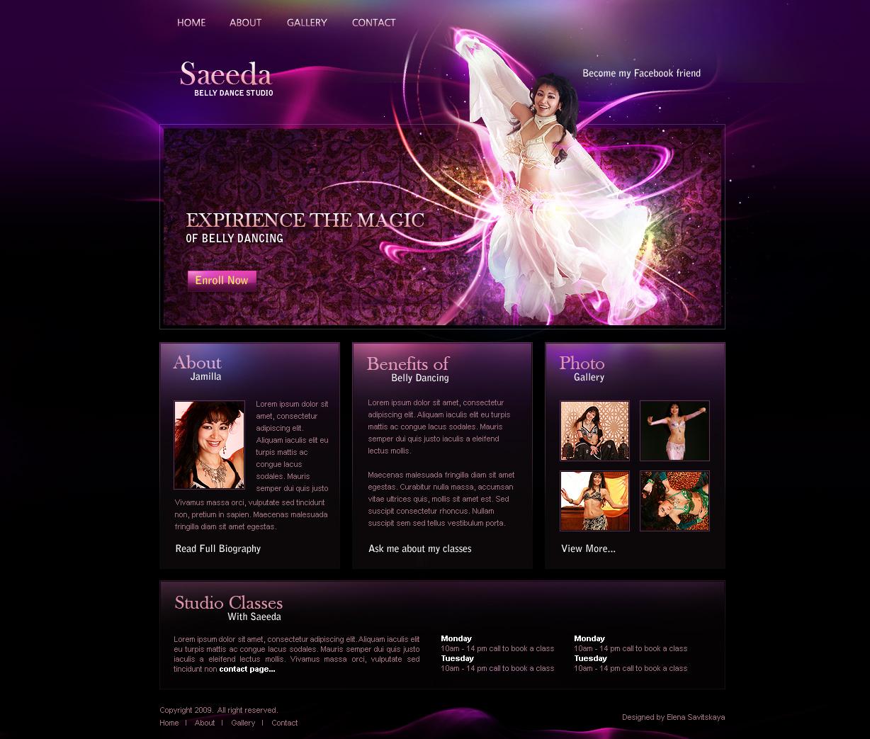 Belly Dance Studio Web Design by ElenaSham on DeviantArt