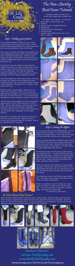 No-Stretch Boot Cover Tutorial