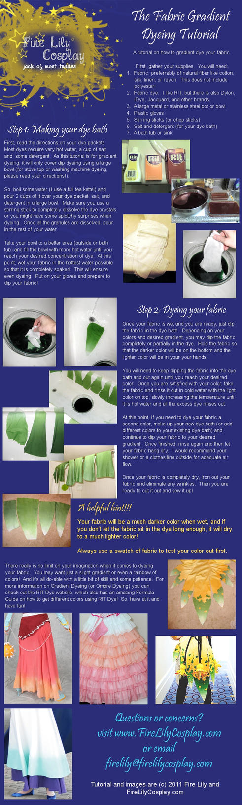 How to make fabric dye - Fabric Gradient Dye Tutorial By Firelilycosplay