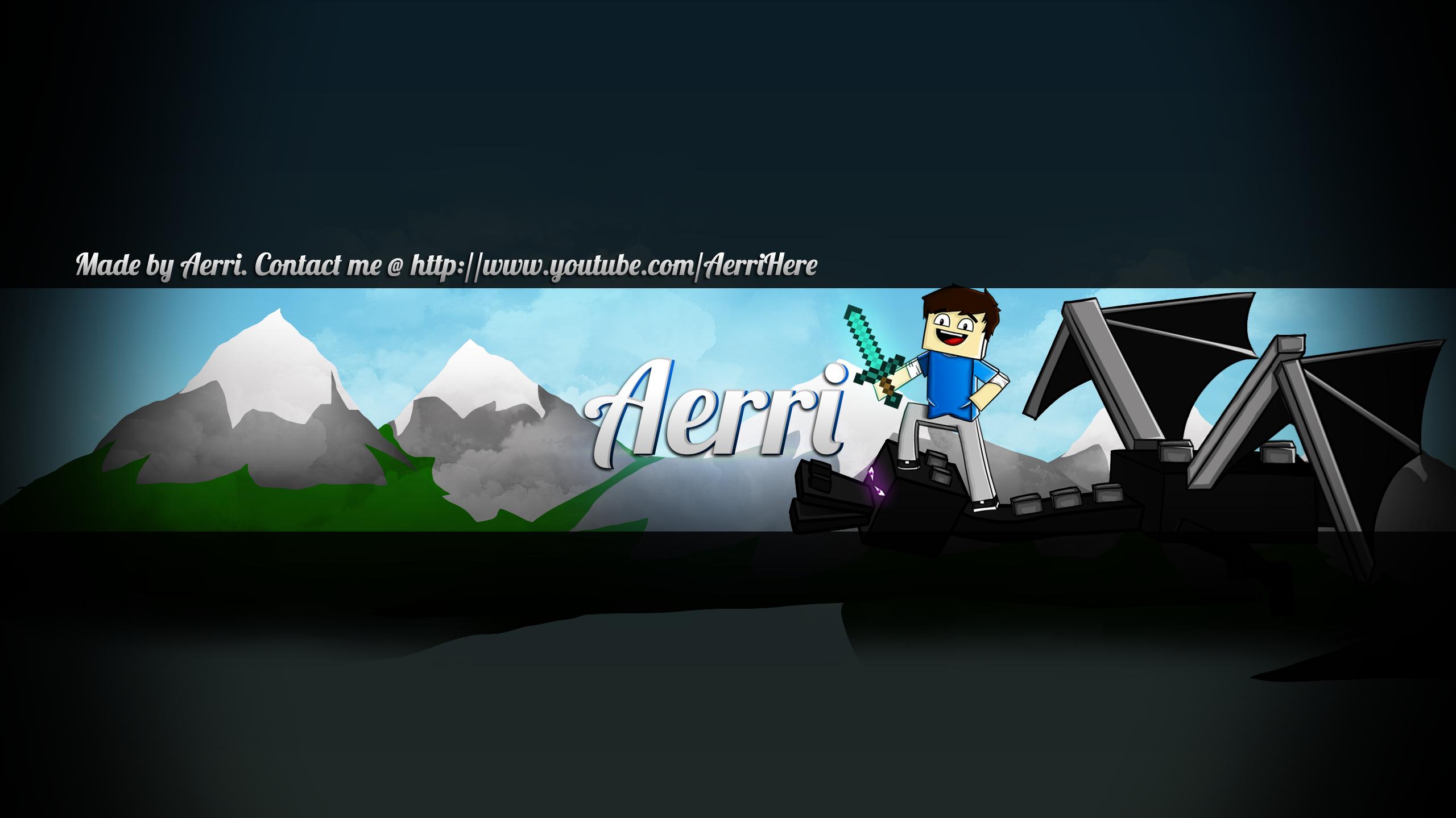 Minecraft Youtube Banner By AerriSaysHi On DeviantArt