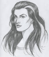 Polgara the Sorceress Drawing by Nyrak