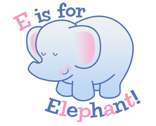 E Is For Elephant By Nyrak