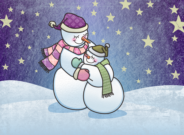 Snowman Hugs by Nyrak