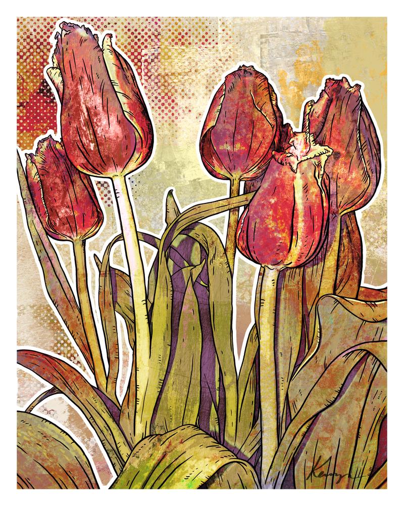 Modern Florals: Tulips by Nyrak