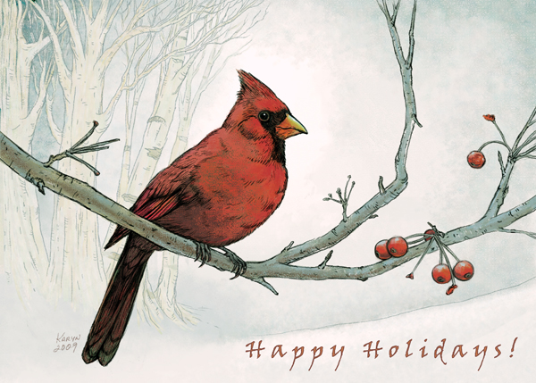 Holiday Cardinal Card by Nyrak on DeviantArt