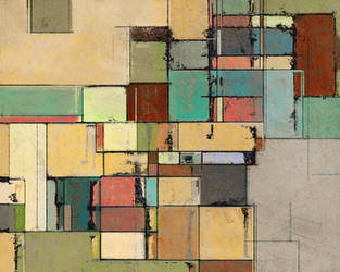 Colorful Lattice Abstract by Nyrak