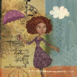 Umbrella Girl by Nyrak