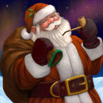 Santa Under the Northern Light