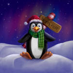 Penguin at the North Pole