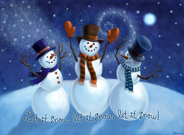 Let it snow snowmen by nyrak on deviantart