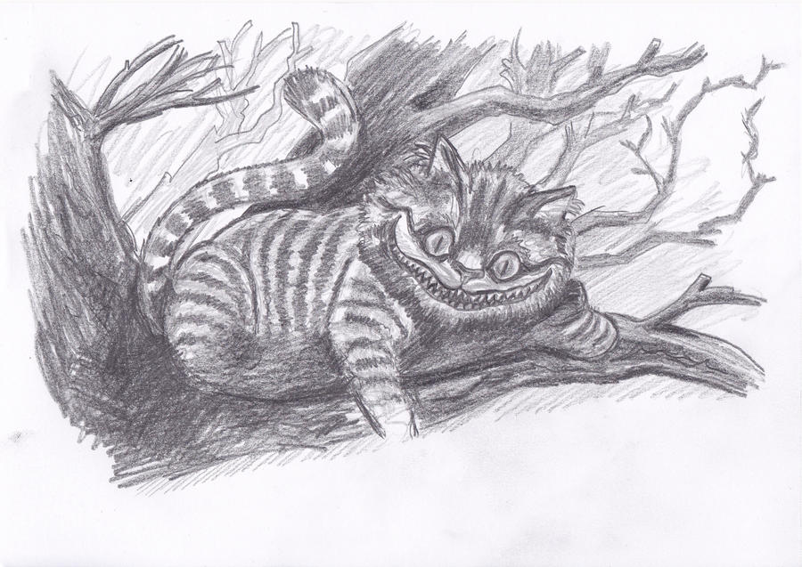 Cheshire cat alice in wonderland pencil by bobo1972