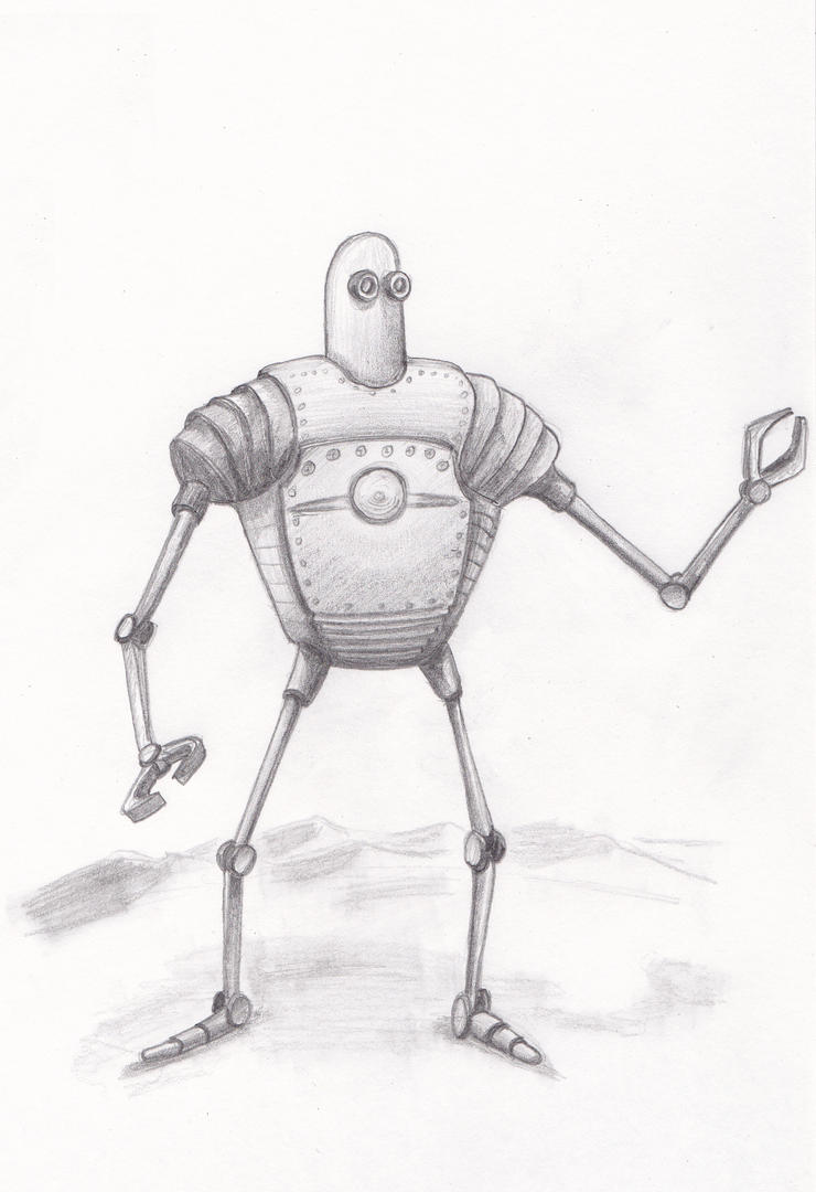 Retro Robot Sketch By Bobo1972 On DeviantArt