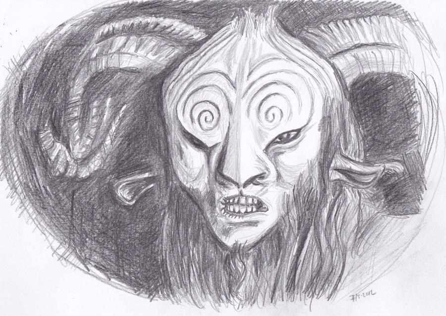 Faun from Pan's Labyrinth - pencil by Bobo1972 on deviantART