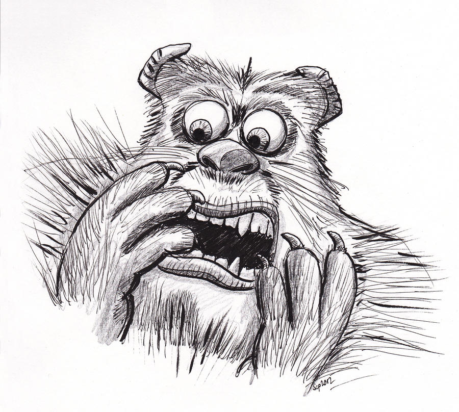 Sully - Monsters Inc, pen and pencil by Bobo1972 on DeviantArt
